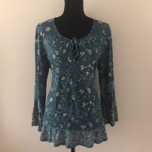 Lucky Brand Long Sleeve Patterned Tee- Large